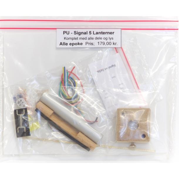 Perron kørsels signal ( PU ) med 5 lanterner. komplet