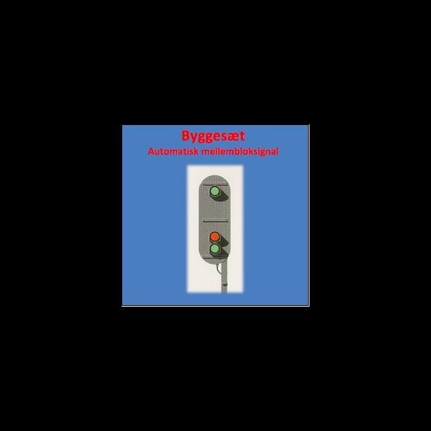 Automatisk mellemblok ( AM ) signal med 3 lanterner. komplet