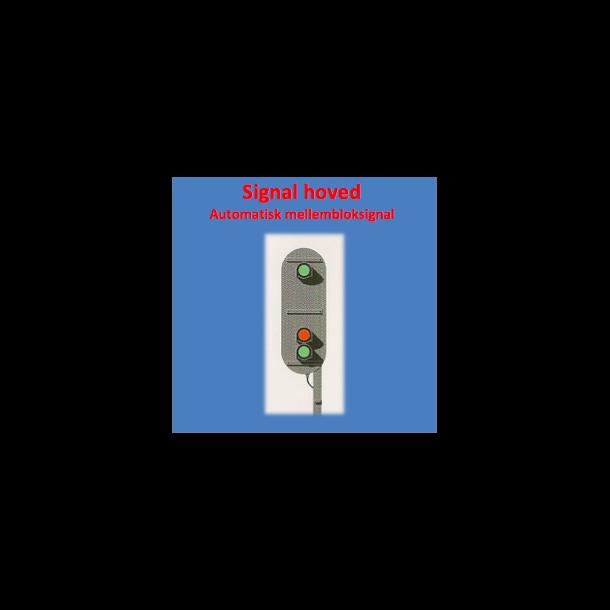 Mellemblok / Dæknings signal med 3 lanterner