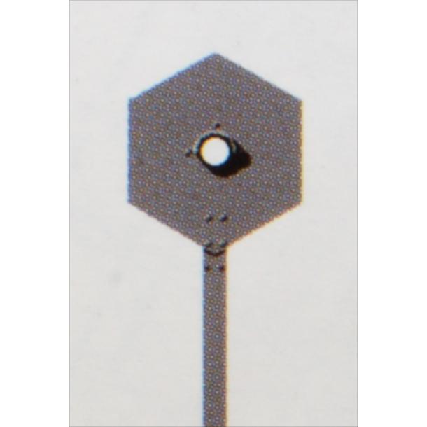 Kontrol signal, sekskantede med 1 lanterne. komplet