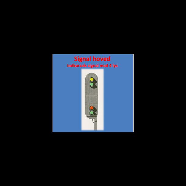 Indkørsels signal med 4 lanterner