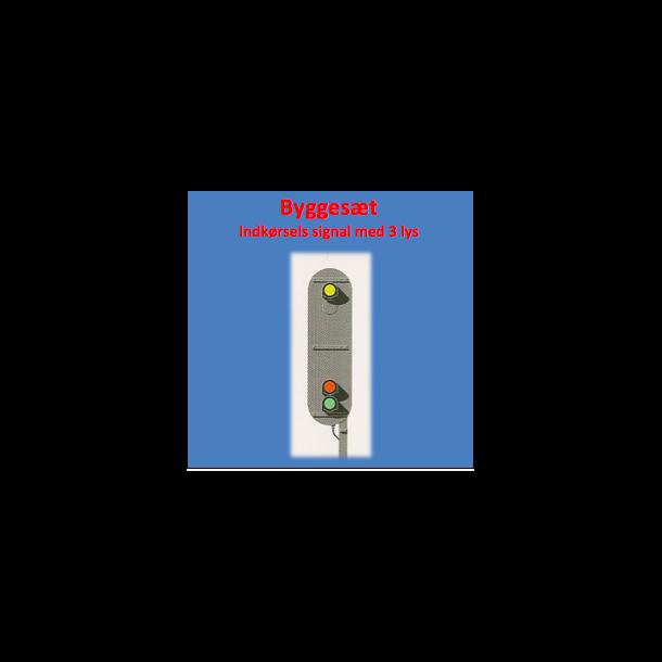 Indkørsels signal med 3 lanterner. komplet