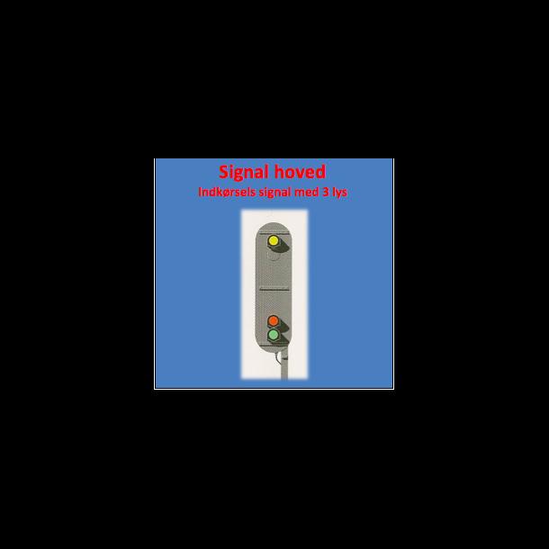 Indkørsels signal med 3 lanterner