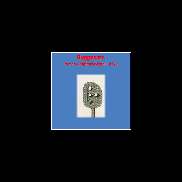 Perron kørsels signal ( PU ) med 4 lanterner. komplet