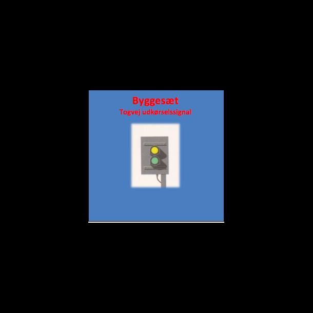 Togvejs udkørsels signal med 2 lanterner. komplet