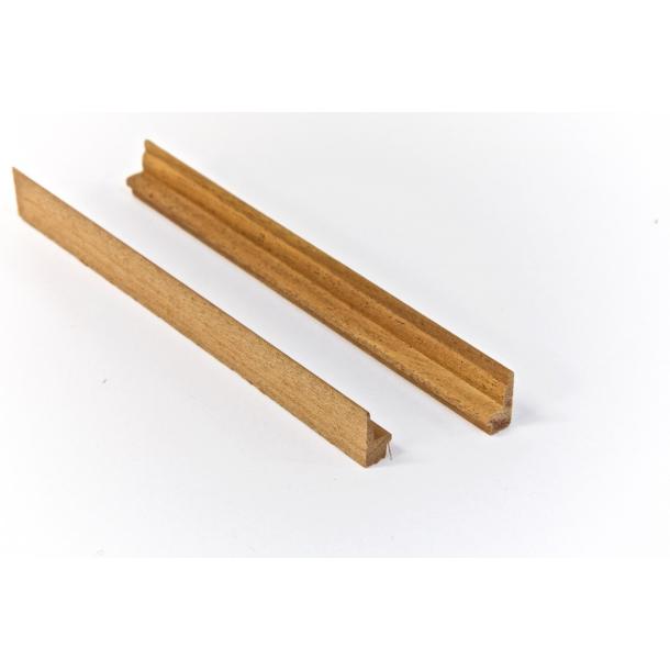 Enkeltsidet sædeprofil i mahognitræ