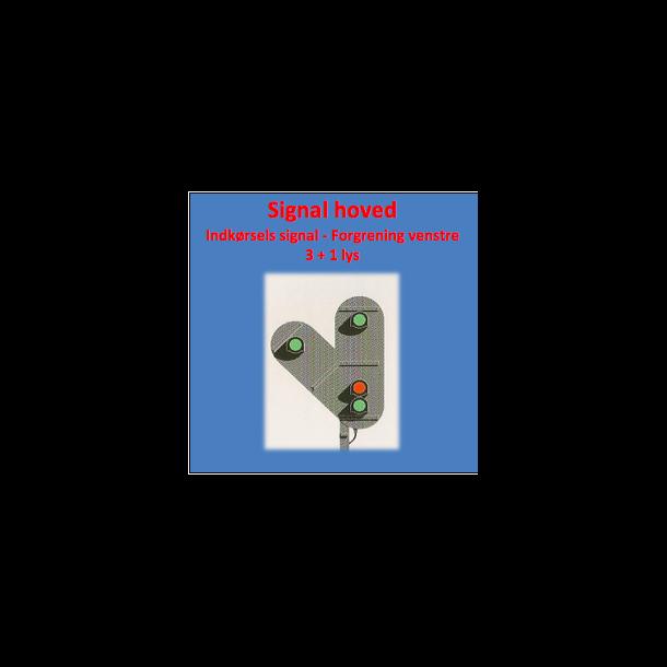 Indkørsels signal med 3+1 lanterner,