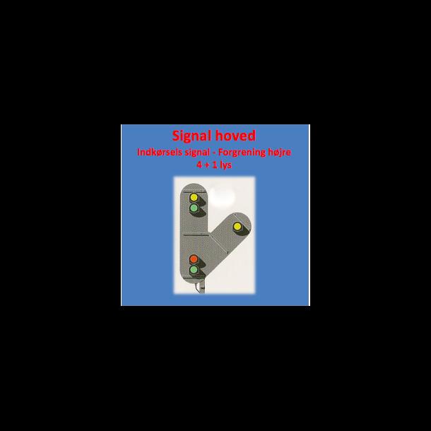 Indkørsels signal med 4+1 lanterner,