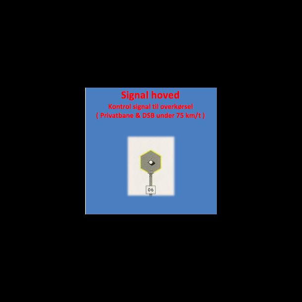 Krontrol signal, sekskantede med 1 lanterne