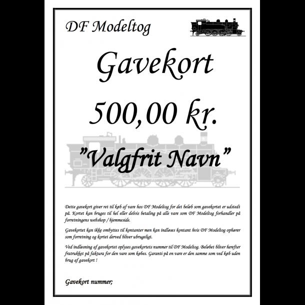 Gavekort på 500,00 kr.