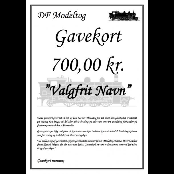 Gavekort på 700,00 kr.