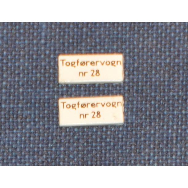 TOGFØRERVOGN nr. 28 - Skilt til vognsiden
